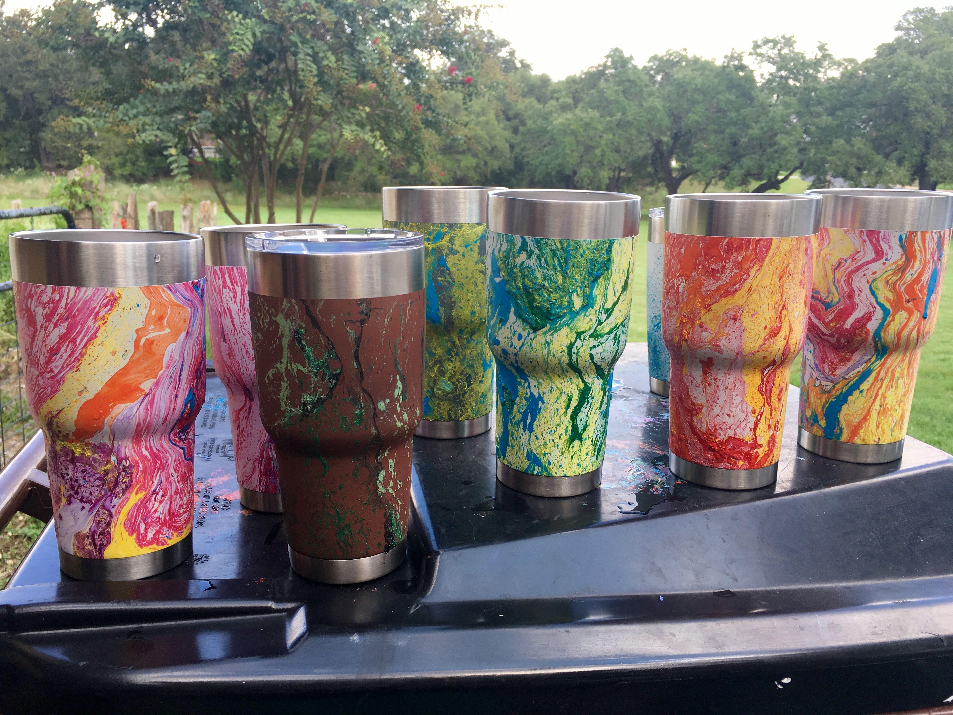 Hydro Dipped Cups Tumbler Cups Diy Paint Dipping Diy Tumblers