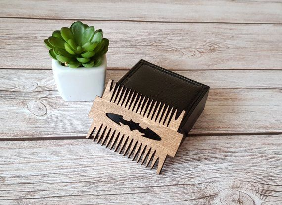 Wooden Beard Comb Beared Grooming Valentines Day Gift Wooden