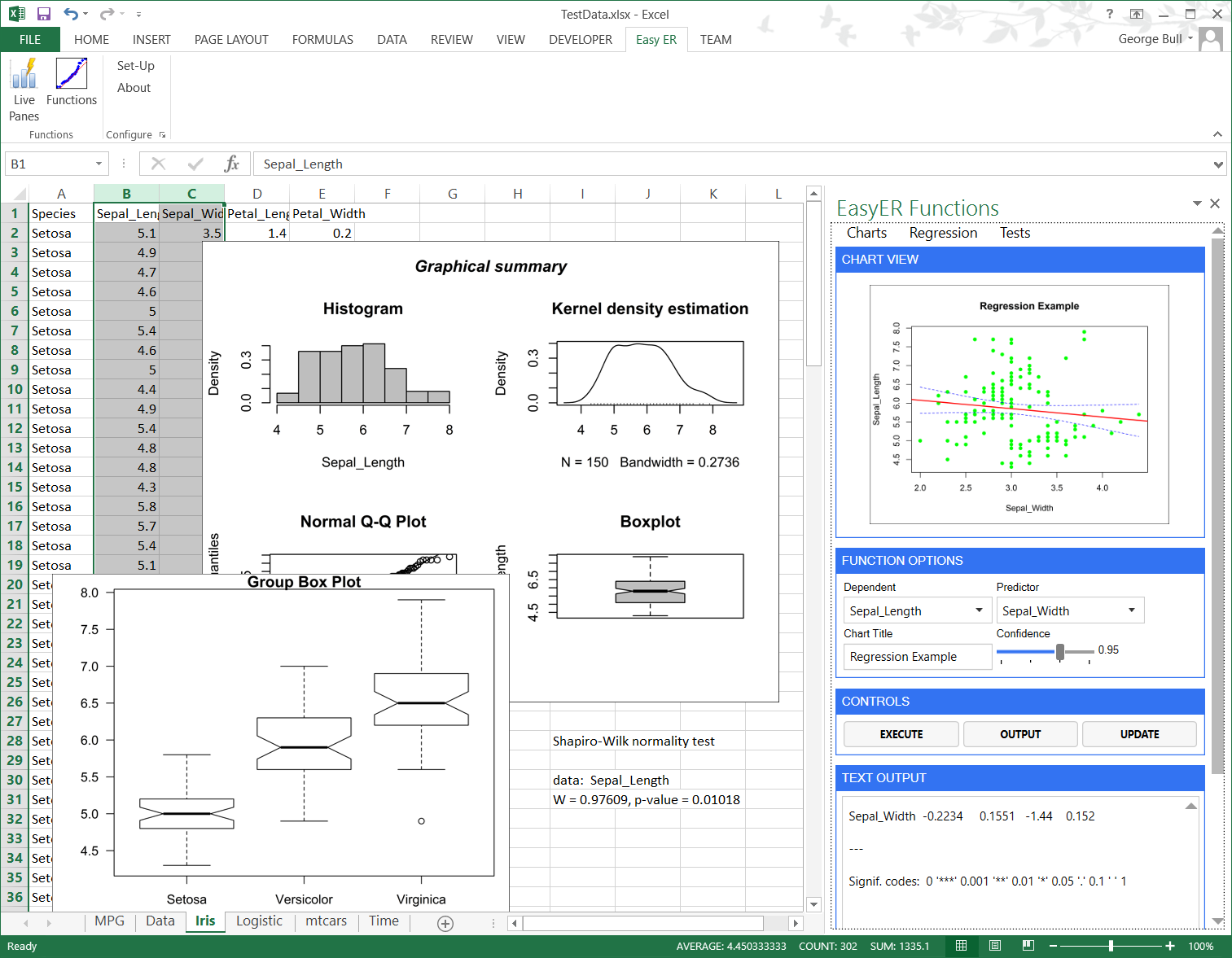 Easyer Making Statistics In Excel Easy Statistics Using