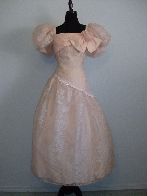 Vintage 1980s Scott McClintock designer Pink dressy dress