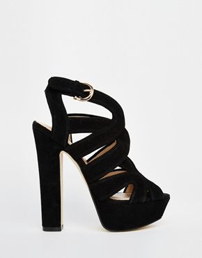 Buy Women Shoes / River Island Chunky Cut Out Block Heel Sandals