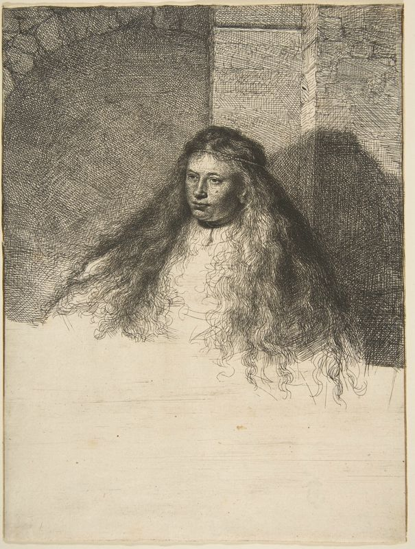 The Great Jewish Bride Fine Art Print Rembrandt Etching Reproduction