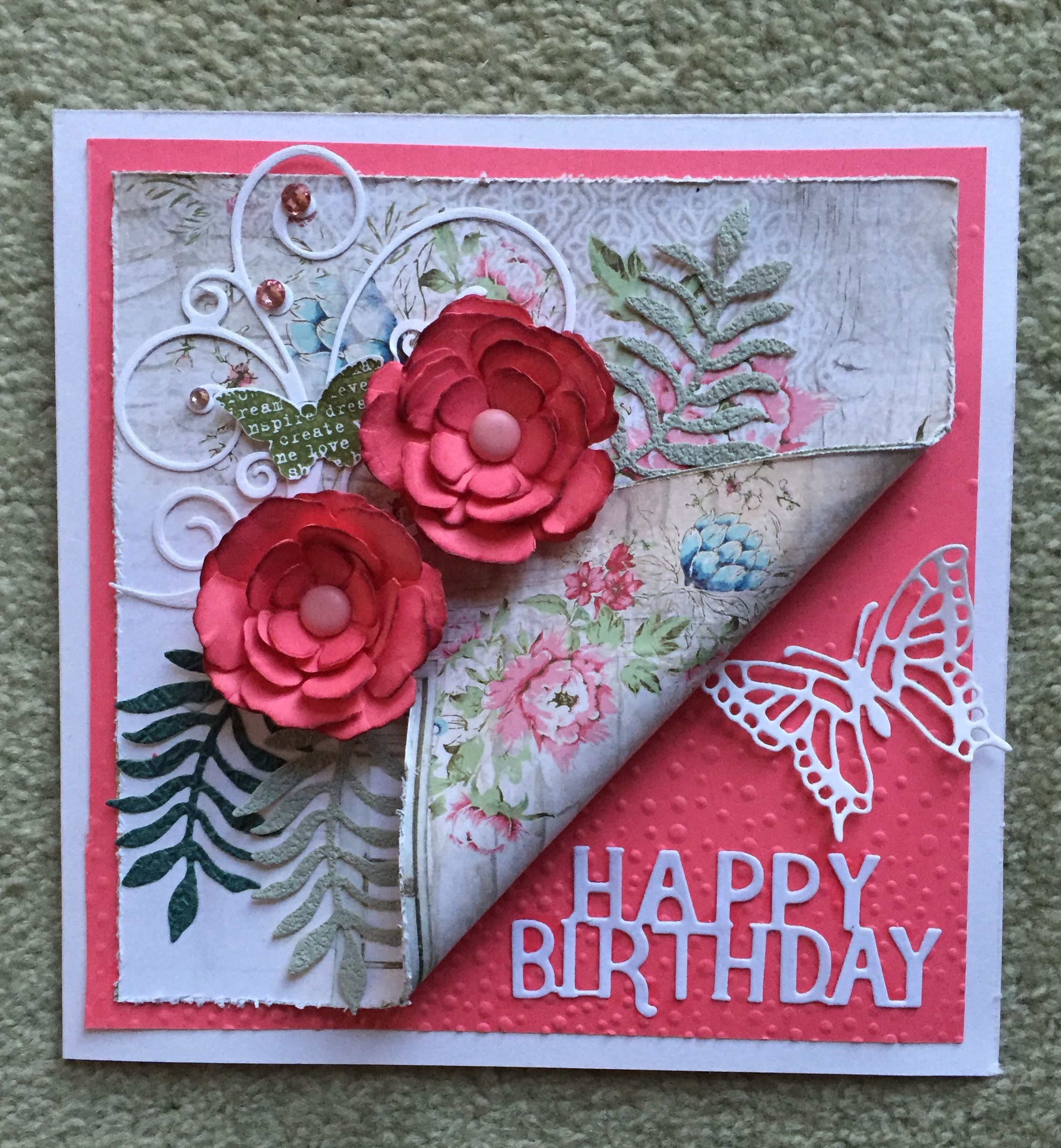 pinyvonne larsen on shabby chic cards  floral cards