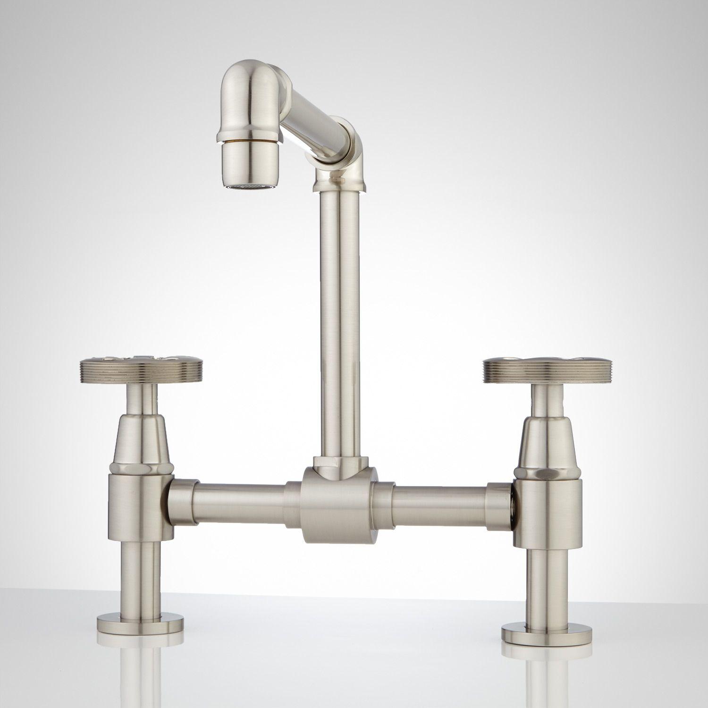Monroe Bridge Bathroom Faucet - Cross Handles | Derazi | Pinterest ...