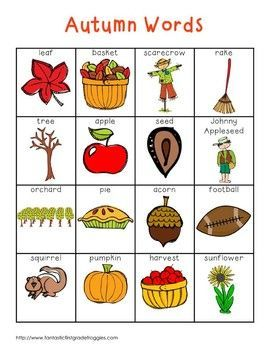 Fall and Autumn Words (With images) | Writing center, Fall ...