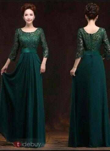 Robe de soiree longue verte