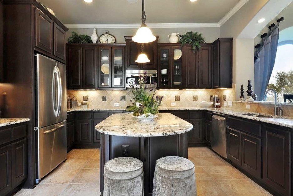 Dark Oak Kitchen Cabinets  Tips  Awesome Kitchen Design ...