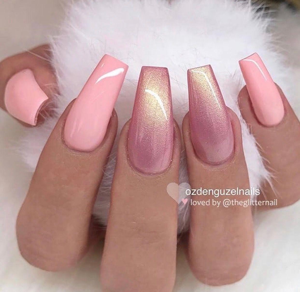 Stylish Gorgeous Glam Natural Nail Art Design Tutorial Polish Manicure Gel Painting Creative Coffin Nails Long Coffin Nails Designs Gorgeous Nails