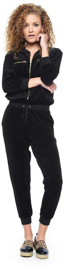 b99c9a400db7 Velour Long Sleeve Jumpsuit