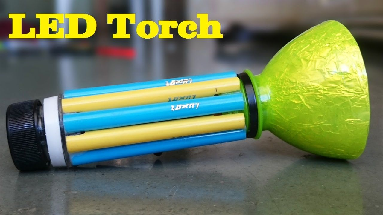 DIY Learn how to make a LED torch light using plastic