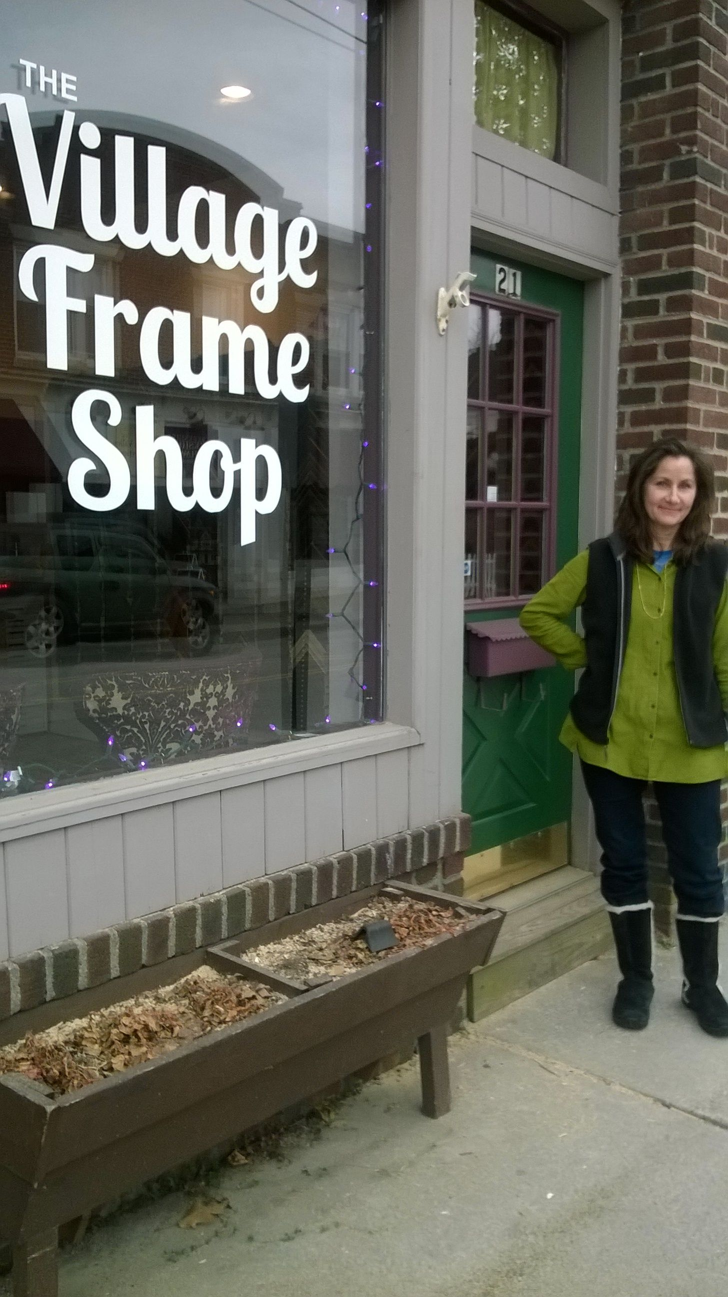 Just opening for the first day at The Village Frame Shop of Pawling ...