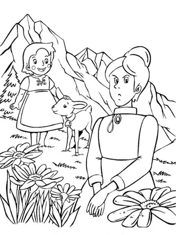 heidi mit ein kleines lamm und Fräulein Rottenmeier | Dibujos de ...