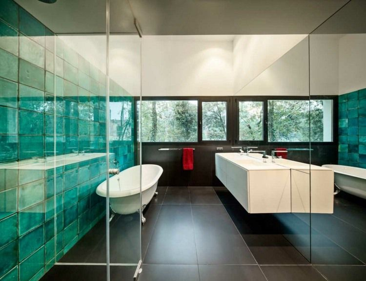 GroB Explore Bathroom Tile Designs, Bathroom Modern And More! Türkise Fliesen  Für Das Bad ...