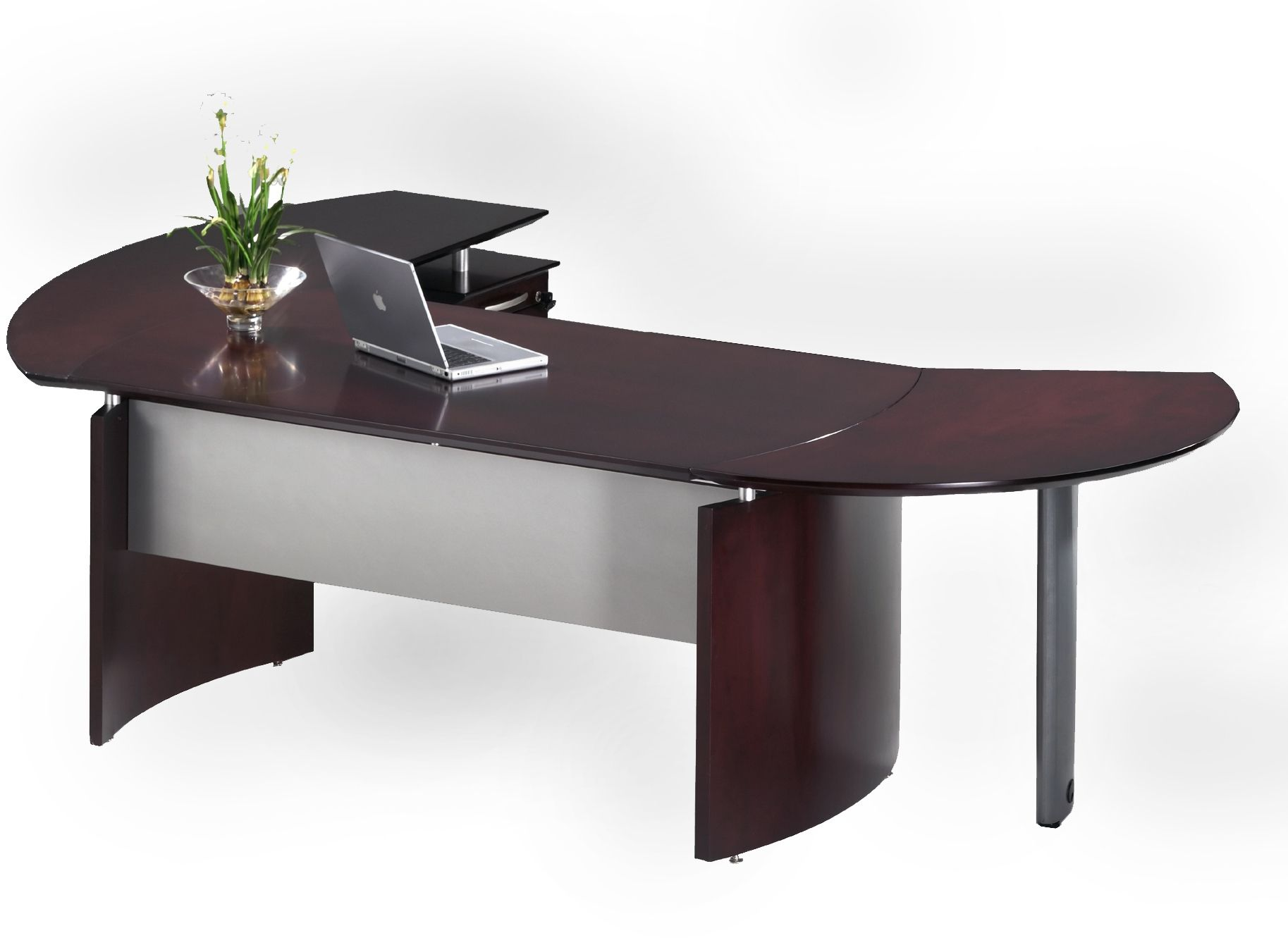 Curved office desk office decorations amazing plywood for Table design for office