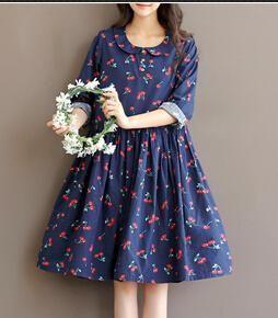 Robe style japonais imprimé cerises Xxl 743626519ea8