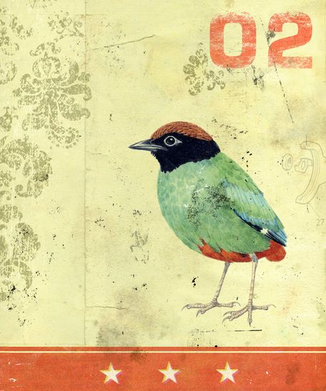 'Green Bird' by Kareem Rizk on artflakes.com as poster or art print $16.63