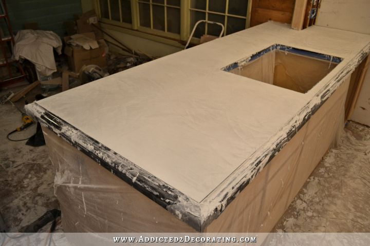 Diy Pour In Place Concrete Countertops Part 2 Addicted 2 Decorating Concrete Countertops Kitchen Concrete Countertops Countertops