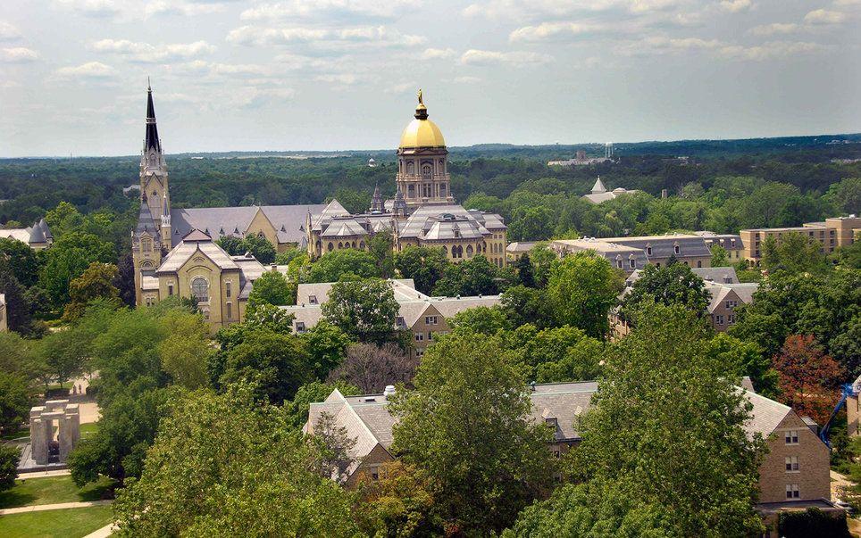 America S Most Beautiful College Campuses College Campus Campus Notre Dame University