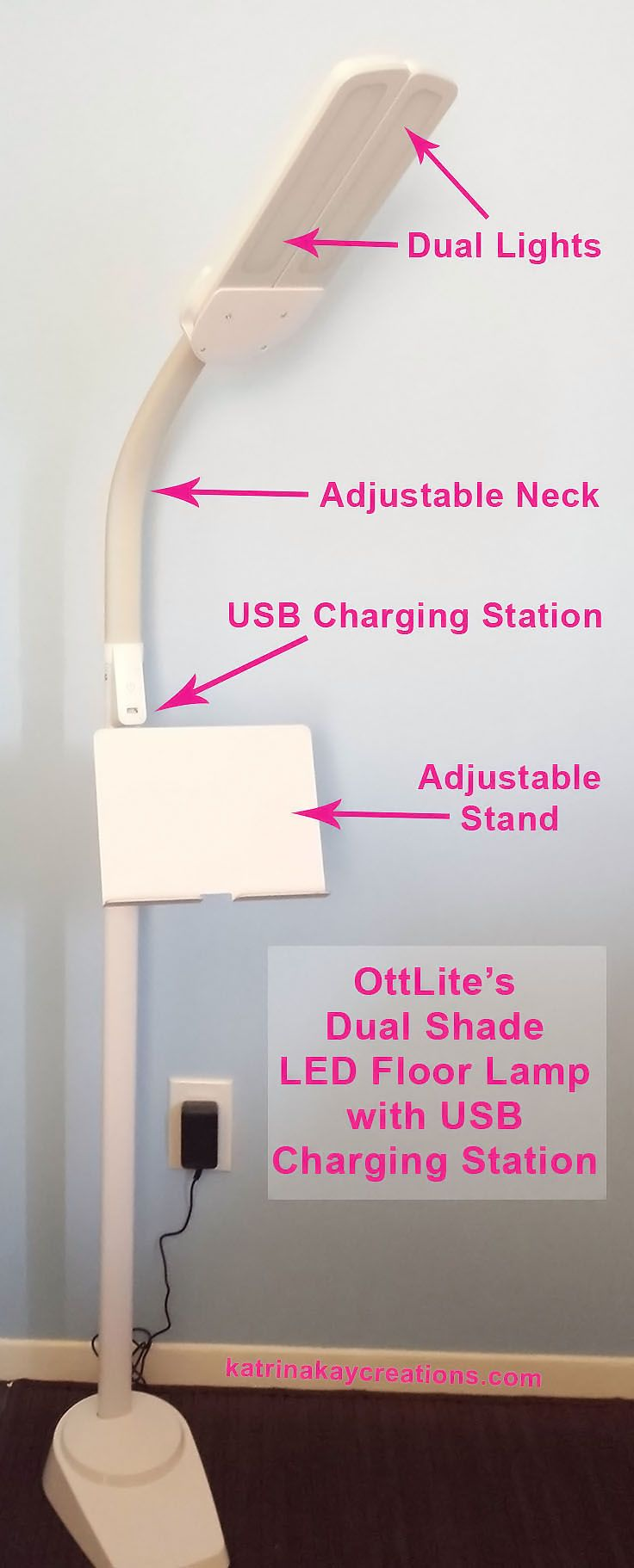 Today I M Reviewing The Ottlite Dual Shade Led Floor Lamp With Usb Charging
