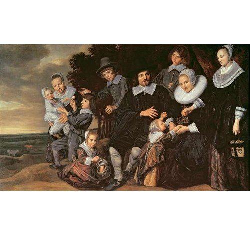 "Photo of Poster ""Family Group in a Landscape, C.1647-50″ von Frans Hals, Kunstdruck East Urban Home Größe: XL"