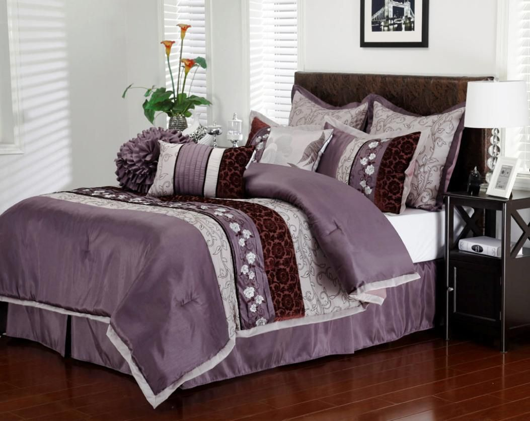 in queen bedding dp madison com comforter pieces biloxi size ultra soft purple bag microfiber amazon a sets park bedroom geometric bed set