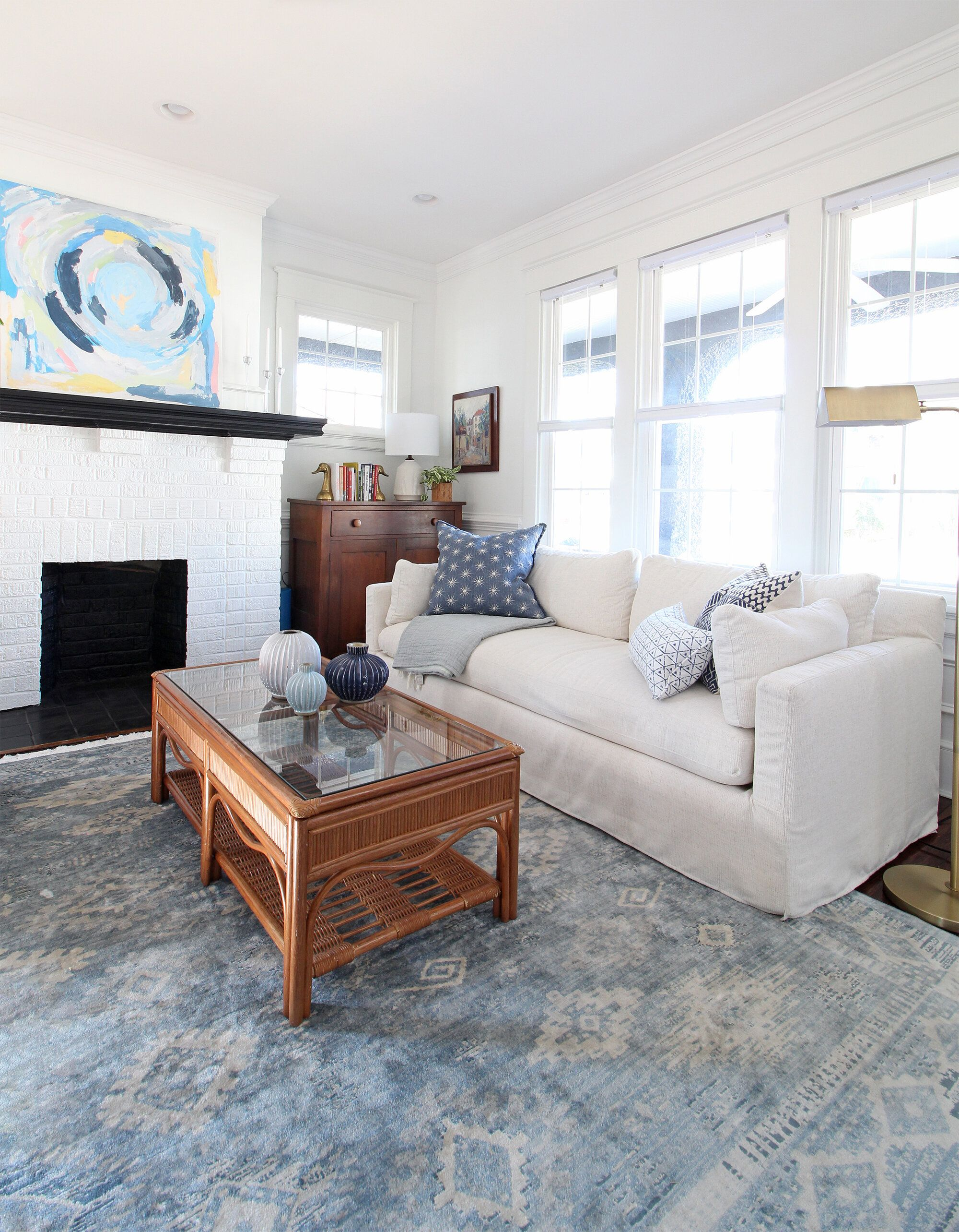 A Tour Of Our Coastal Modern Traditional Living Room Progres