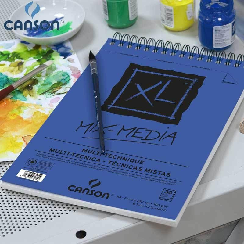Canson Xl Series Mix Media Pad 16k Canson Xl Mix Media Pad Drawing Paper Watercolor Gouache And