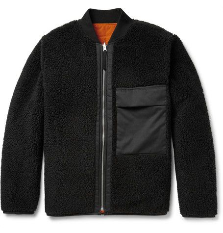Our Legacy Reversible Fleece And Quilted Shell Bomber