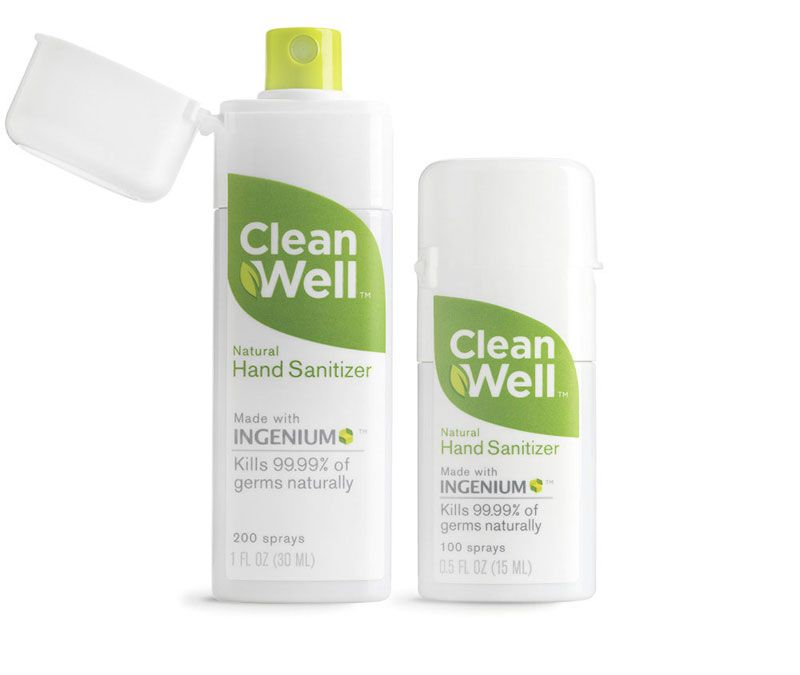 Clean Well Hand Sanitizer Packaging Design Bottle Packaging