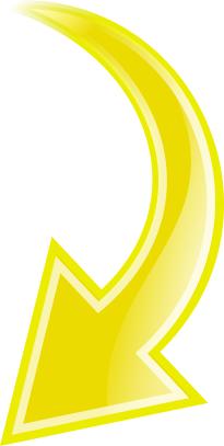 Arrow Curved Yellow Down Curved Arrow Arrow Symbols