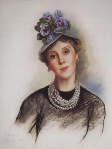 Portrait of Countess Rosario Zubova  - Zinaida Serebriakova