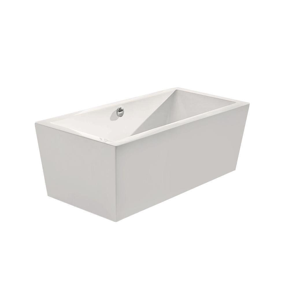 Aquatica PureScape 026A 5.25 ft. Acrylic Classic Flatbottom Non-Whirlpool Bathtub in White