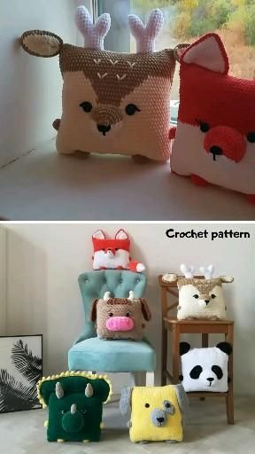 AMIGURUMI PATTERN TOYS AND PILLOW EASY CROCHET by Toysbyhvatik