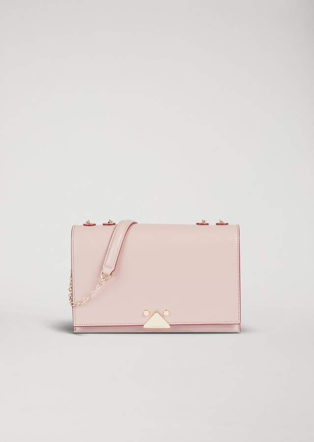 3fdc2421dd Emporio Armani Smooth Leather Crossbody Bag With Logo Detail ...