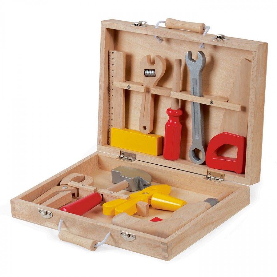 Janod Redmaster Bricolo Tool Box Wooden Tool Boxes Tool Kit