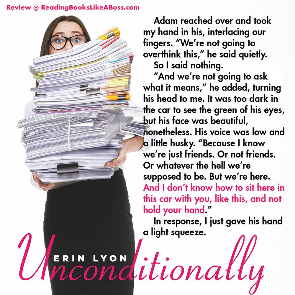 Book review unconditionally by erin lyon books to read