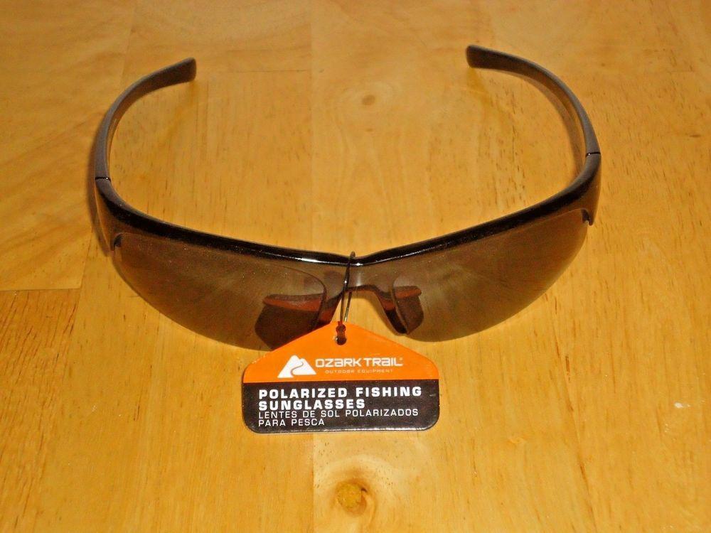 de16363aa4 Men s Ozark Trail Polarized Sunglasses for Fishing Driving Sports Black NWT   OzarkTrail  Sport
