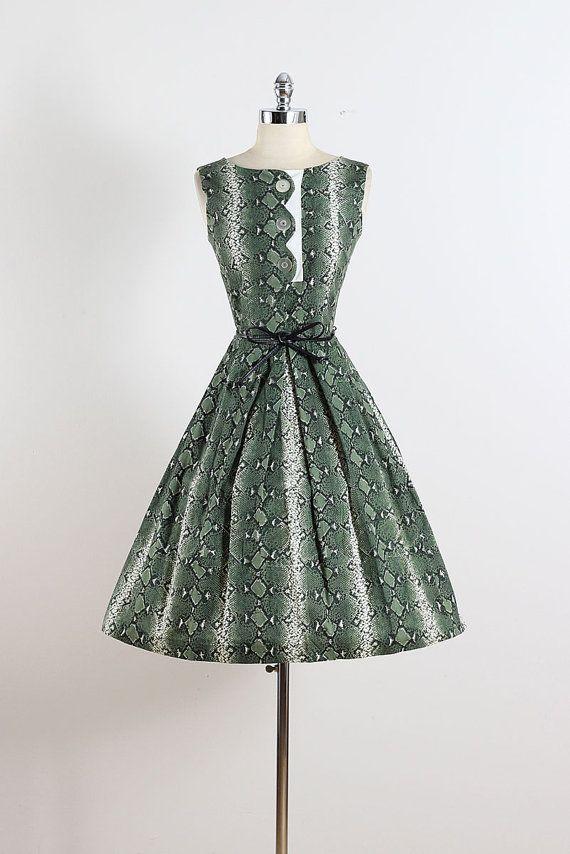 Coquette II . vintage 1950s dress . vintage by millstreetvintage