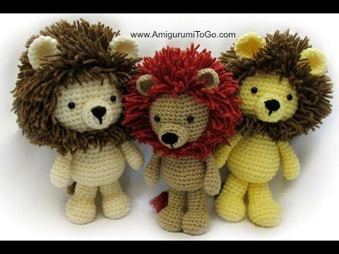 Amigurumi Lion Perritos : Written pattern here http: www.amigurumitogo.com 2014 12 crochet
