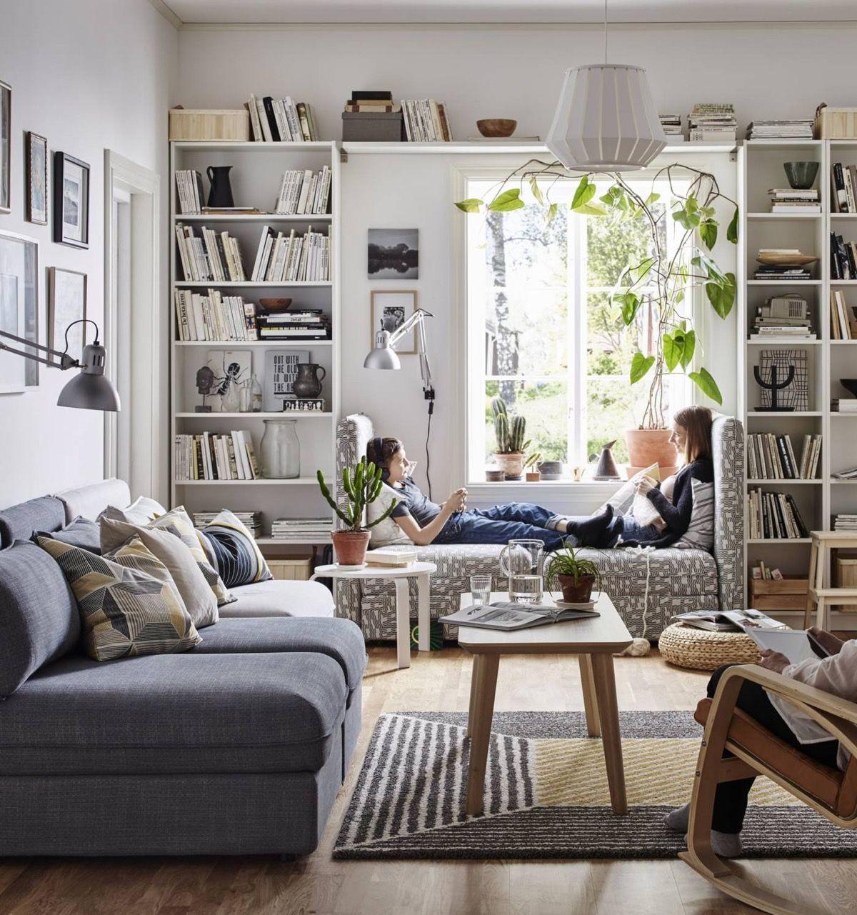 Wohnzimmer für Buchliebhaber – Neueste Dekor