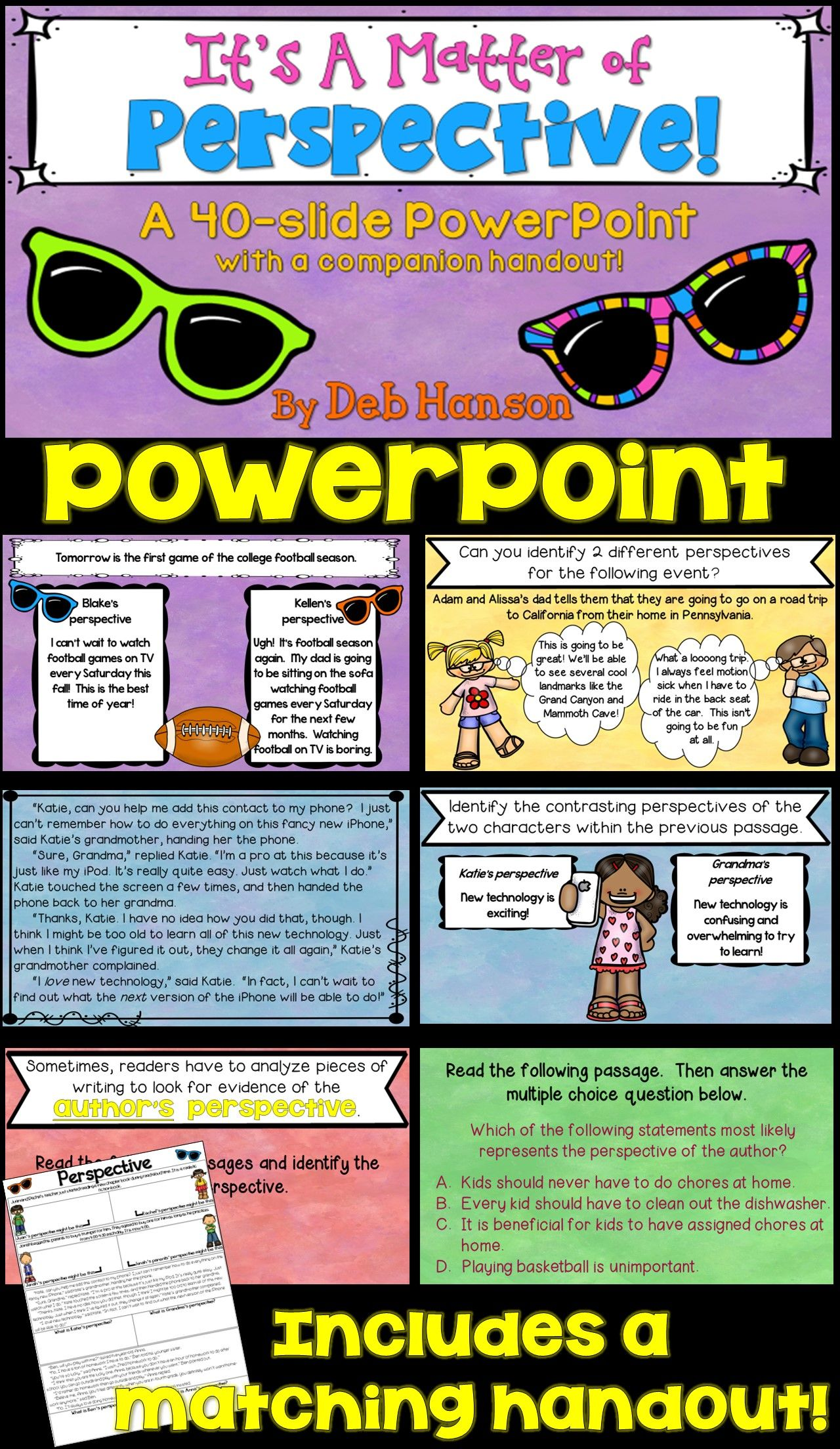 Point Of View Powerpoint Identifying Different