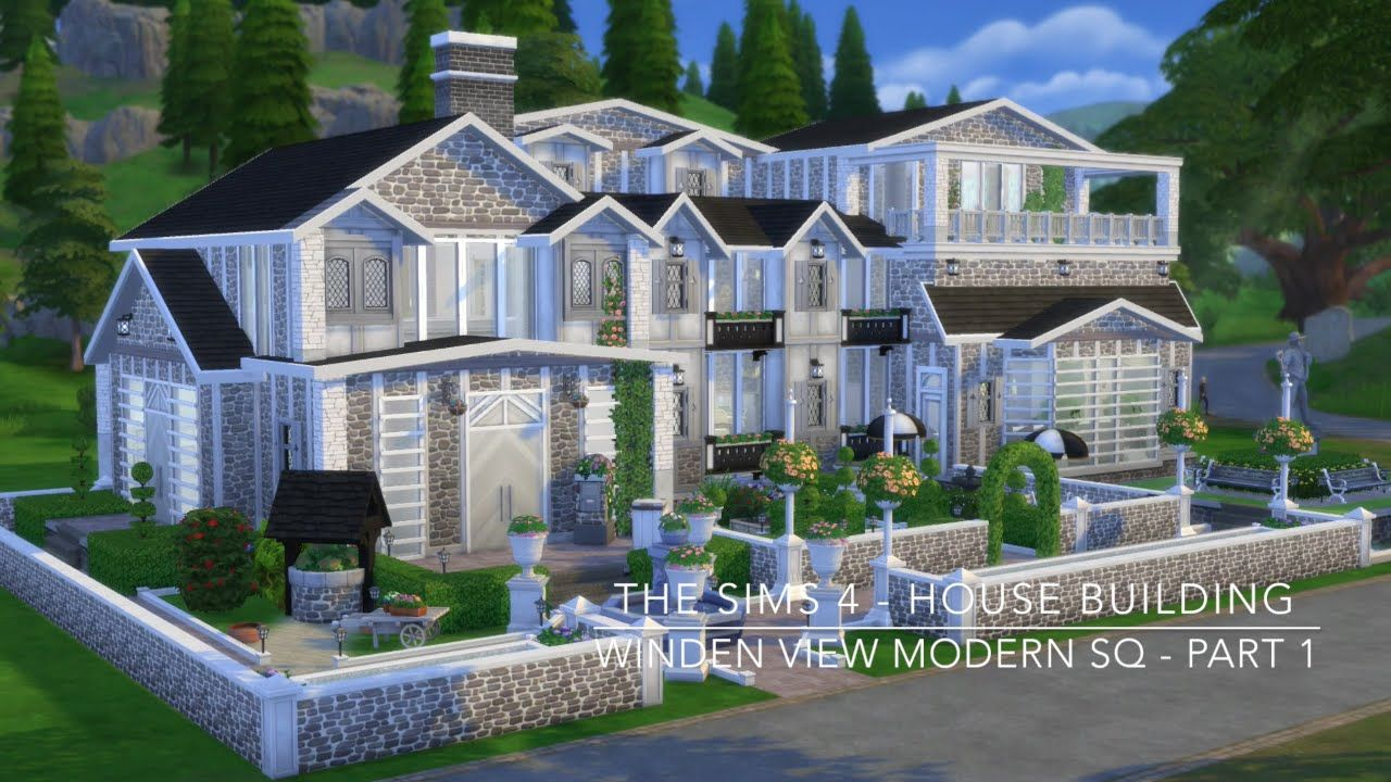 The Sims 4 House Building Winden View Modern Sq Part 1