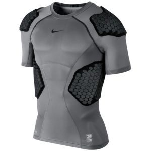 7a0e7a74 Nike Pro Combat Hyperstrong 4-Pad Top 13 - Men's - Black/Grey ...
