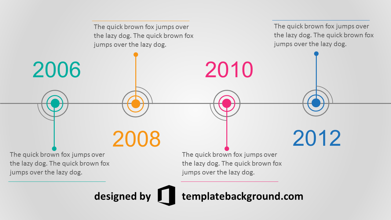 A good presentation template Powerpoint timeline slide