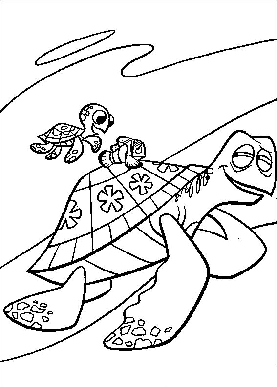 Pin Di Finding Nemo Coloring Pages