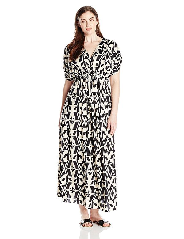 0e77d948716 cheap plus size v-neck maxi dress under 20 with short sleeves ...