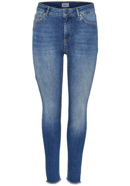 Ankle-Jeans »BLUSH« ausgefranste Säume   Damen jeans ...