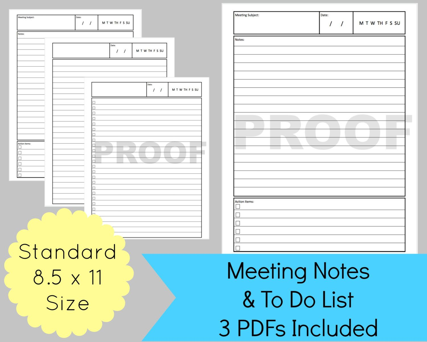 Meeting Notes Template Planner Meeting Notes Meeting Planner