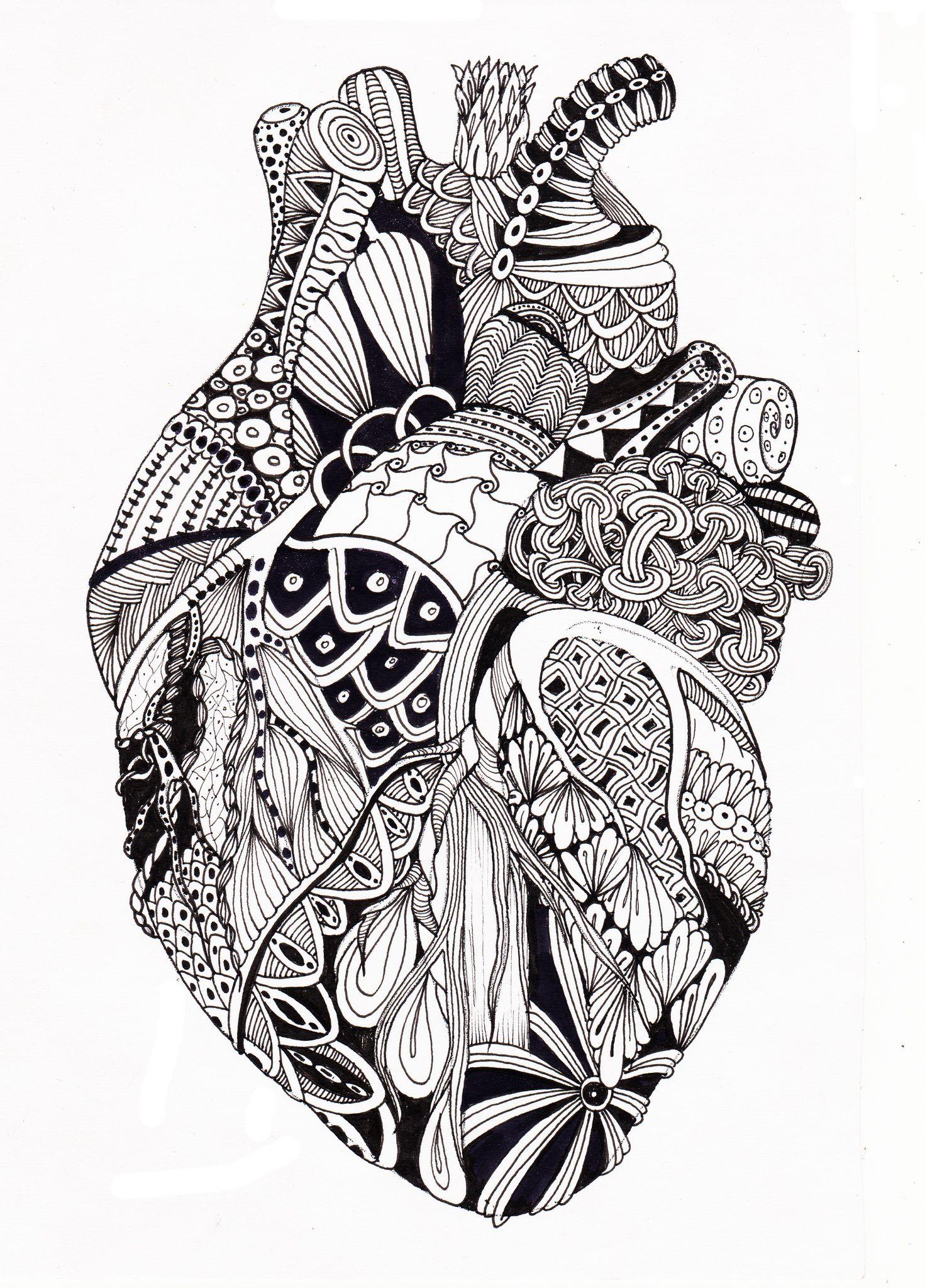Zenheart1 Creative Art Heart Art Y Anatomical Heart
