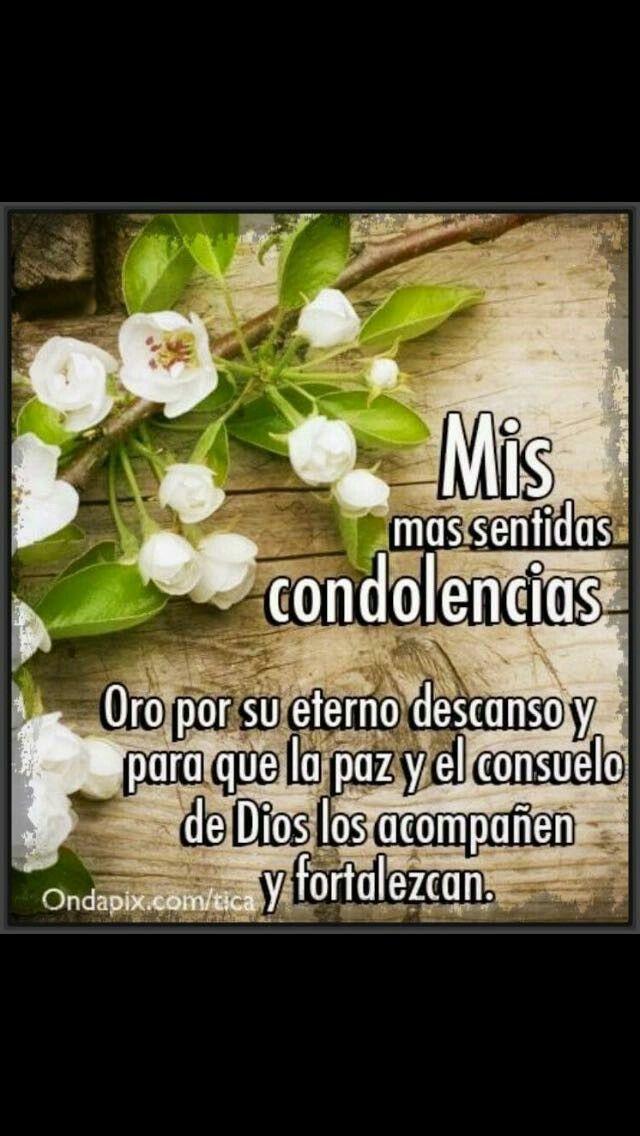 Pésame Condolencias Frases Mensaje De Pesame Y Imagenes